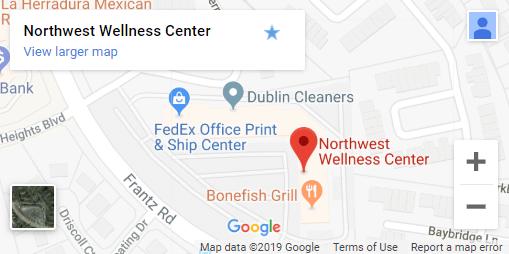 Map of Dublin OH Chiropractors